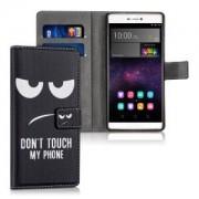 kwmobile Flipové pouzdro s designem don't touch my phone pro Huawei P8 - don't touch my phone