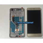 touch screen lcd display frame huawei ascend p10 lite gold+biadesivo