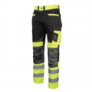 Pantaloni reflectorizanti slim-fit, cusaturi triple, 8 buzunare, gaici pentru curea, marime 3XL