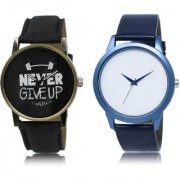 The Shopoholic Black White Combo Treny and Precious Black And White Dial Analog Watch For Boys Combo Watches For Mens