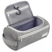 Aeoss Toiletry Organizer Wash Bag Hanging Dopp Kit Travel for Bathroom Shower(Grey)