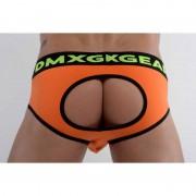 DMXGEAR Anatomic Fit Luxury Cotton Backless Jock Brief Jock Strap Underwear Orange