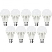 Led 5W Bright White Light Bulb Set Of 9 Pieces