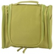 Edwin Clark Hanging Fabric Travel Toiletry Bag Organizer And Dopp Kit Travel Toiletry Kit(Green)