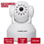 Foscam FI9816P (Plug&Play) Wireless N 720P HD, H.264, IR Cut, SD Card, audio (alb)