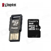 Clase 10 Kingston 8GB Micro SD / TF tarjeta de c/ lector de tarjetas - negro