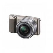 Aparat foto Mirrorless Sony Alpha A5100 24.3 Mpx WiFi NFC Brown Kit 16-50mm