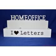 I LOVE LETTERS Home Office Levél- és írószertartó 30x14 cm