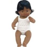 Papusa Baby hispanic fata Miniland 40cm