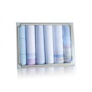 L19-15 Női textilzsebkendő 6db, díszdobozban LUX