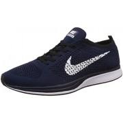 Nike Men's Flyknit Racer Deep Blue Running Shoes - 7.5 UK/India (42 EU)(8.5 US)(526628-404)