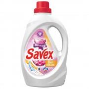 Detergent Lichid Automat de Rufe SAVEX 2 in 1 Color, Cantitate 1L, 20 Spalari, Parfum Floral, Detergent Lichid pentru Rufe Colorate, Detergent Automat pentru Haine Colorate, Detergenti Lichid pentru Haine, Solutii Curatare a Hainelor