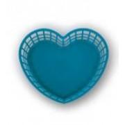 Szív alakú műanyagkosár nagy, kék (222)
