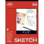 Pro Art 12-Inch by 18-Inch Sketch Paper Pad, 30 Sheets