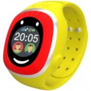 "Smartwatch MyKi Touch, Display OLED 1.22"", Wi-Fi, 3G, dedicat pentru copii (Rosu/Galben)"