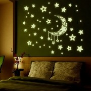 JAAMSO ROYALS Luminous Stars Wall Stickers Home Glow In The Dark Stars For Kids Wall Sticker for Home Dcor