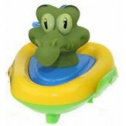 Frealm Baby Bath Toys Bathtime Fun Play Toy Floating Boat Racing Crocodile for Babies Toddlers Kids