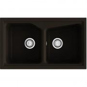 Poalgi - Lava-louças de 2 pias Brown 86 x 51 cm City Poalgi