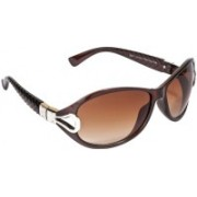 VESPL Over-sized Sunglasses(Brown)