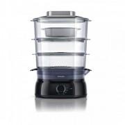 Aparat de gatit cu abur HD9126/00, 900 W, 3 nivele, negru