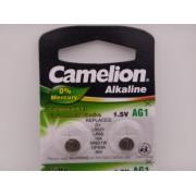 Camelion AG1, baterie ceas 1.5V alcalina LR621, LR60, 164, SR621W, GP64A, 364 blister 10
