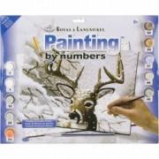 Prima pictura pe numere - Cerb iarna