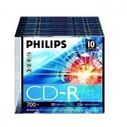 Philips CD-R Philips 700Mb 52x 80min Slim Pack 10
