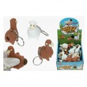 Geen 5x Sleutelhangers met poepende lama/alpaca bruin 9 cm