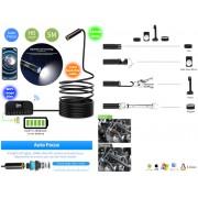 NTR ECAM29WIFI Vízálló endoszkóp kamera 5MP auto fókusz 14mm átmérő 4LED 30m WiFi + 3,5m kábel
