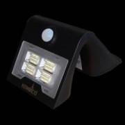 Aplica de exterior-lumina LED de culoare neagra cu panou solar si senzor de miscare putere-2W 260 lm