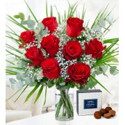 Valentine's Day Bouquet - Free Chocs - 9 Red Roses - Valentine's Flowers