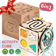 BrainUpToys - Busy Cube - Activity Cube Toddlers - Sensory Board - Busy Cube for Kids - Boy and Girl 12-18 Month - Baby Travel Toy - Developmental Toy