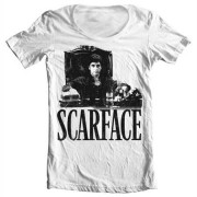 Scarface - Tony´s Office Wide Neck Tee, Wide Neck T-Shirt