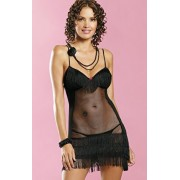 Latino chemise komplet (czarny)