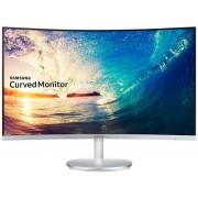 """Monitor VA LED Samsung 27"""" LC27F591FDUXEN, Full HD (1920 x 1080), HDMI, DisplayPort, VGA, 4 ms, Boxe, Ecran Curbat (Argintiu)"""