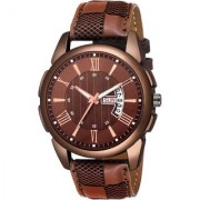 Lava Creation Analogue Brown Dial Day And Date Men's Watch ( 2028 )