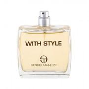 Sergio Tacchini With Style eau de toilette 100 ml Tester uomo