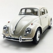 1967 Volkswagen VW Classic Beetle Bug White Color Kinsmart 1:32 Die-Cast,Model,Toy,Car,Collectible,Collection,Gift