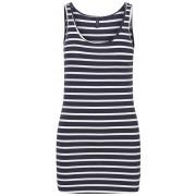 Vero Moda Tricou pentru femei Maxi My Soft Long T/T Stripe Ga Night Sky/Snow White M
