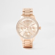 river island Womens Gold coated round face watch (One Size)