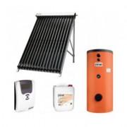 Pachet panouri solare Ferroli cu 20 tuburi vidate si boiler bivalent ECOUNIT 150 litri