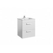 Set mobilier Roca Debba Standard dulap baza cu 2 sertare 60cm si lavoar -A855966806