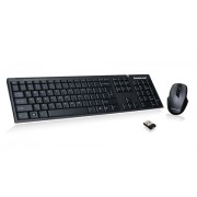 iogear GKM552R RF Wireless QWERTY Black keyboard