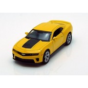 Chevy Camaro ZL1, Yellow - Welly 43667-4.5 Long Diecast Model Toy Car (Brand New, but NO BOX)