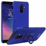 Capa com Protector de Ecrã e Anel Imak Cowboy para Samsung Galaxy A6+ (2018) - Azul