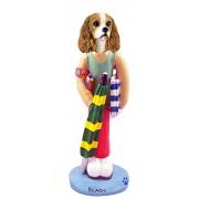 Cavalier King Charles Spaniel Brown White Beach Doogie Collectable Figurine