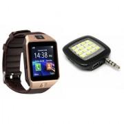 Zemini DZ09 Smart Watch and Mobile Flash for PANASONIC P55 NOVO(DZ09 Smart Watch With 4G Sim Card Memory Card| Mobile Flash Selfie Flash)