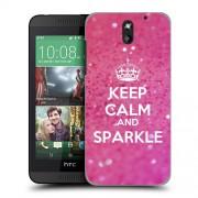 Husa HTC Desire 610 Silicon Gel Tpu Model Keep Calm Sparkle