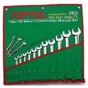 Set 8 chei combinate fixe inelare cotite 10 19mm Toptul