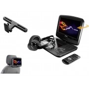 Hoofdsteun-DVD-speler met monitor Lenco DVP-937 Beelddiagonaal=22.5 cm (9 inch)